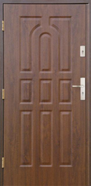 9-paneli - drzwi do domu jednoskrzydłowe - MIKEA