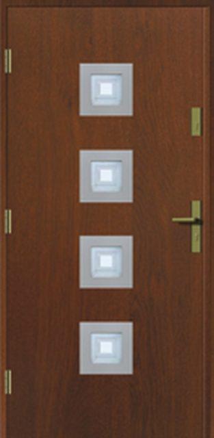 kwadro-inox - drzwi do domu jednoskrzydłowe - MIKEA