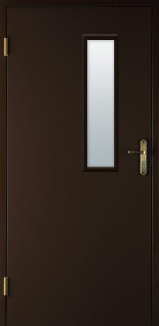 drzwi wejściowe z szybą - Linia Basic